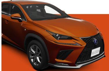 新型レクサスNXのおすすめカラーは有料色のブレージングカーネリアンで決定!ソニックチタニウムも人気色ですよー