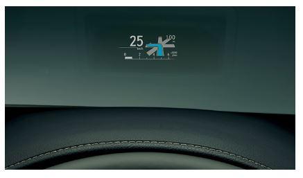 新型レクサスNXカラーヘッドアップディスプレイ