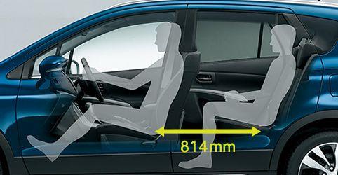 新型SX4S-CROSS内装後部座席画像