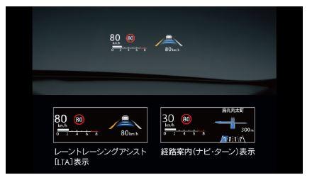 新型レクサスUXカラーヘッドアップディスプレイ