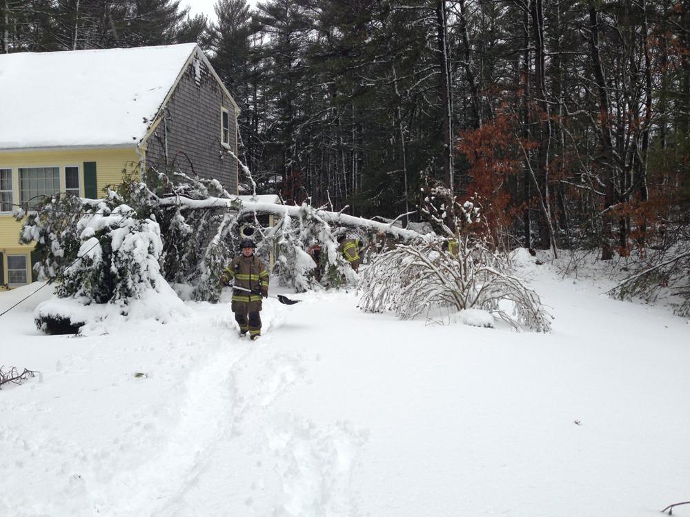 2013 Blizzard Snow Storm Carver Fire Department