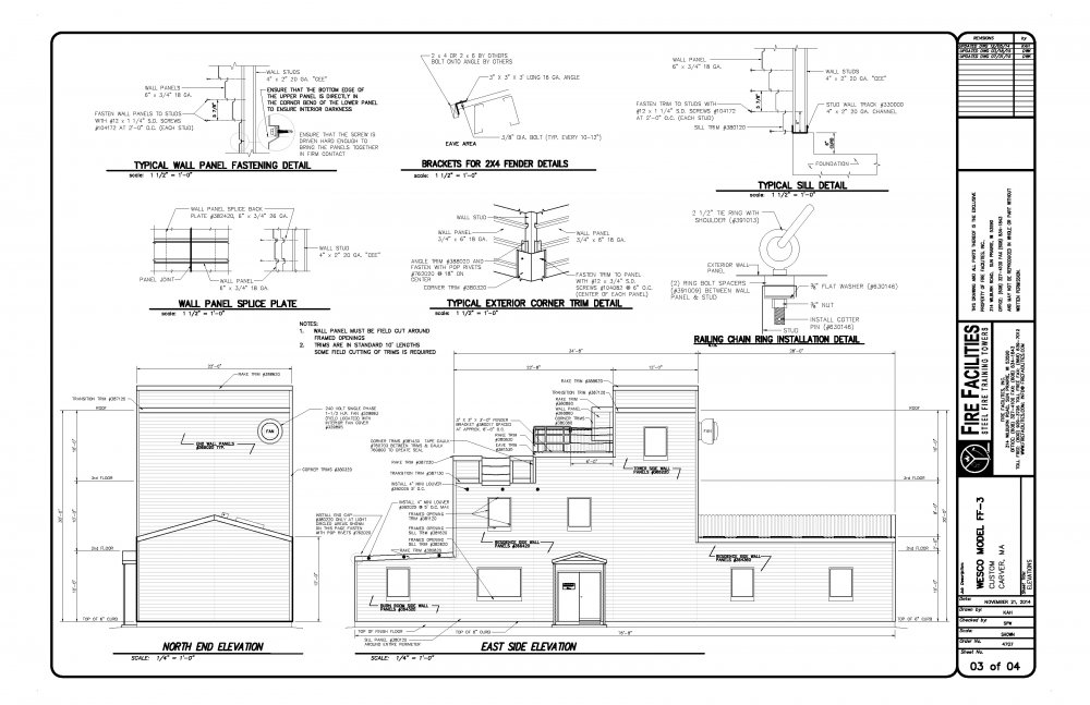 Fire Station Floor Plans Interior and Exterior Elevations – Fire Station Floor Plans