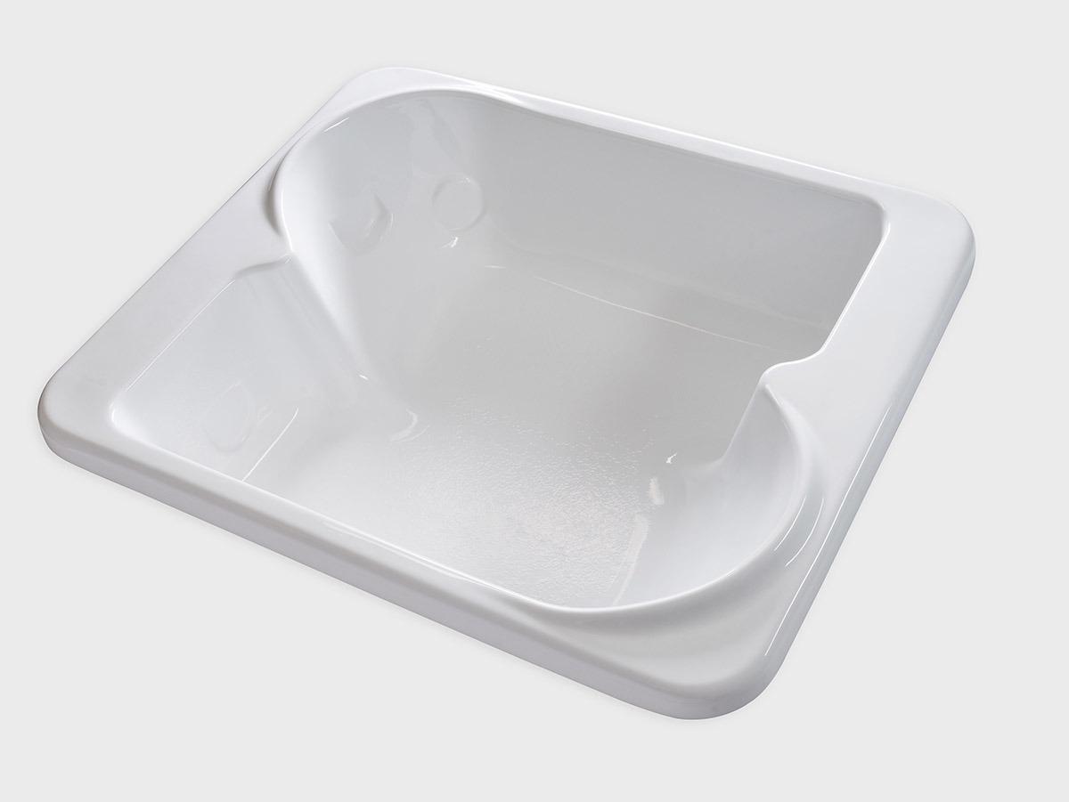 BE7260 72 X 60 Square Drop In Soaking Bathtub Carver