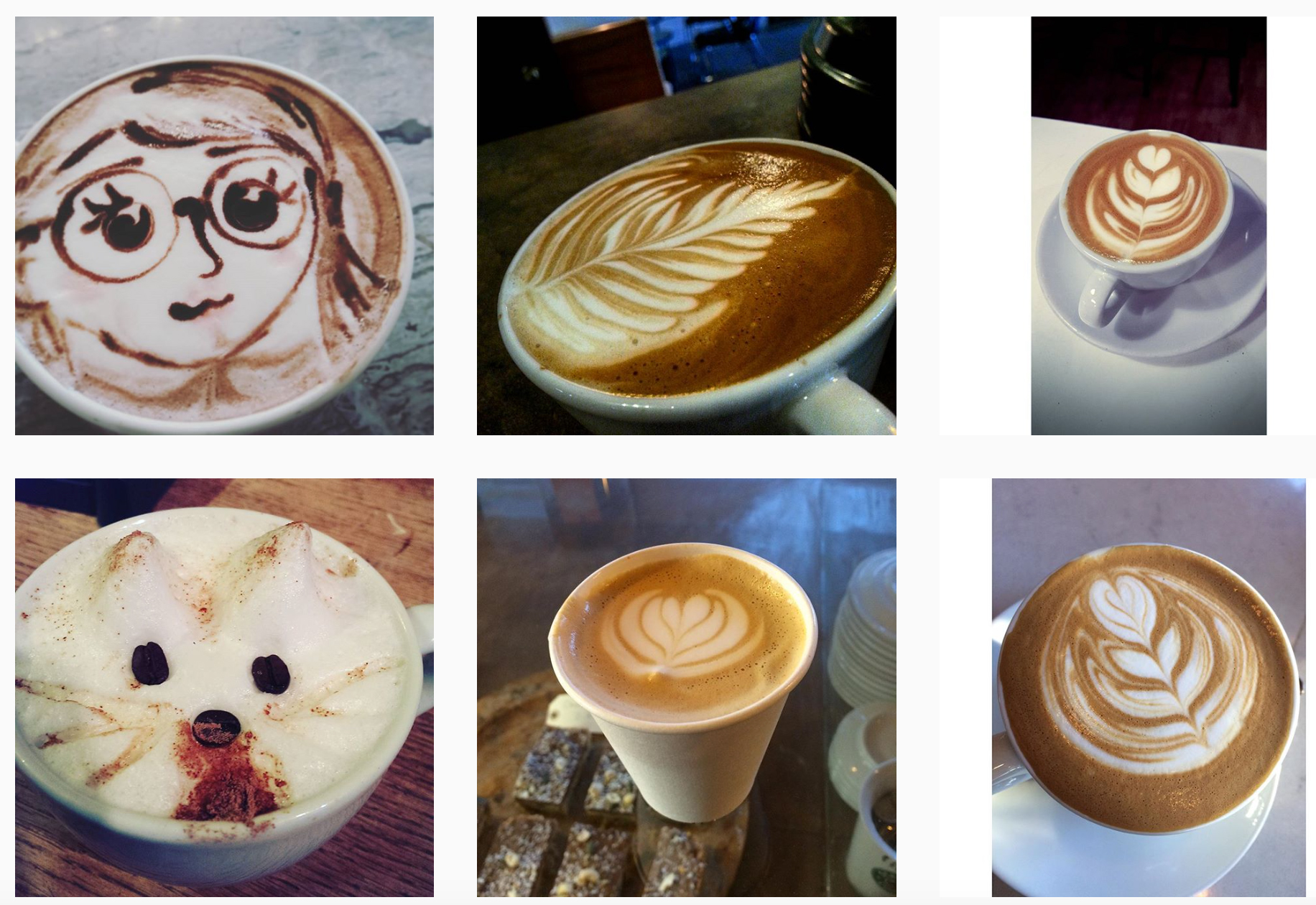 Latte Art via @carvetiicoffee