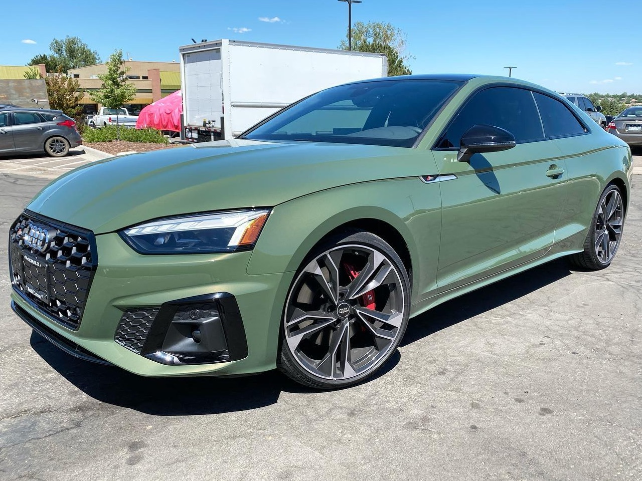 green Audi S5 window tinting side view
