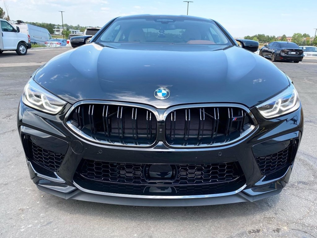 BMW M8 window tinting front view