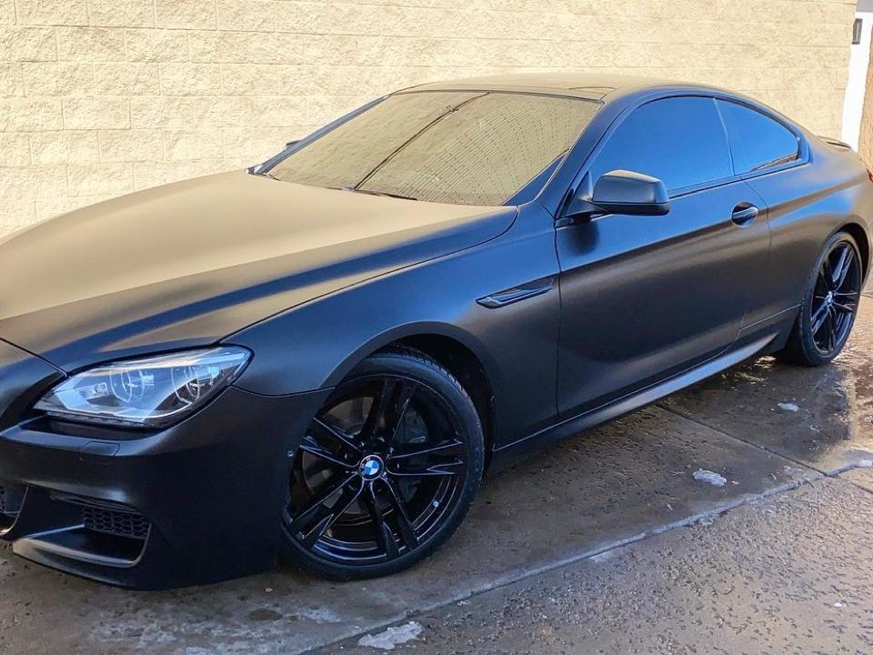 BMW 650i window tint side view