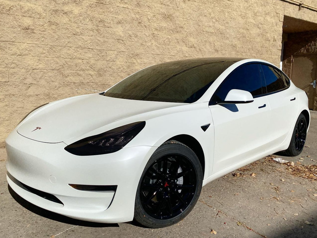 Tesla Model 3 ceramic window tinting front view