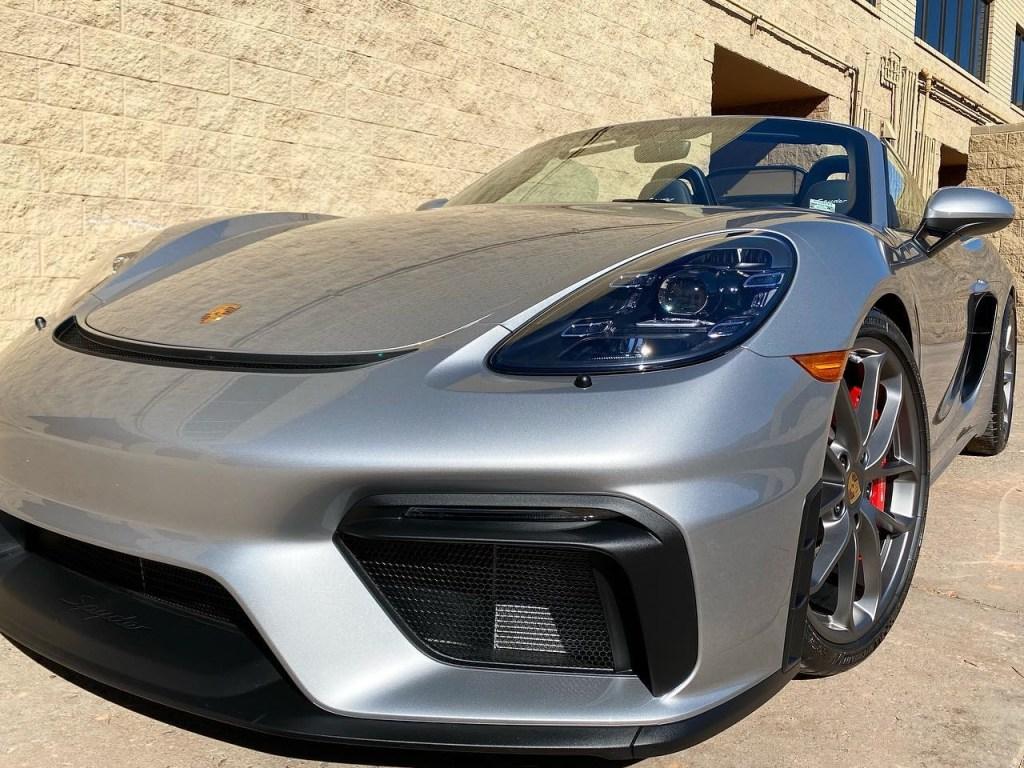 Porsche 718 Spyder window tinting front view