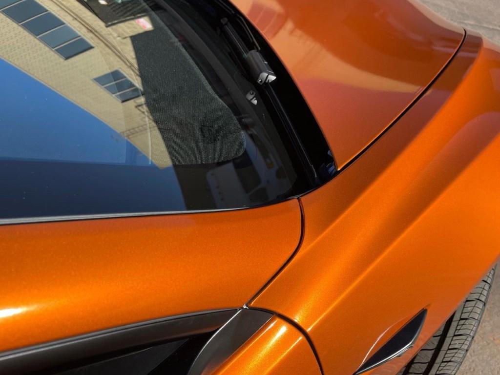 Tesla Model 3 Gloss Liquid Llumar window tint back view
