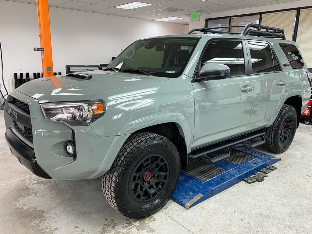 Toyota 4Runner tinted windows front side view