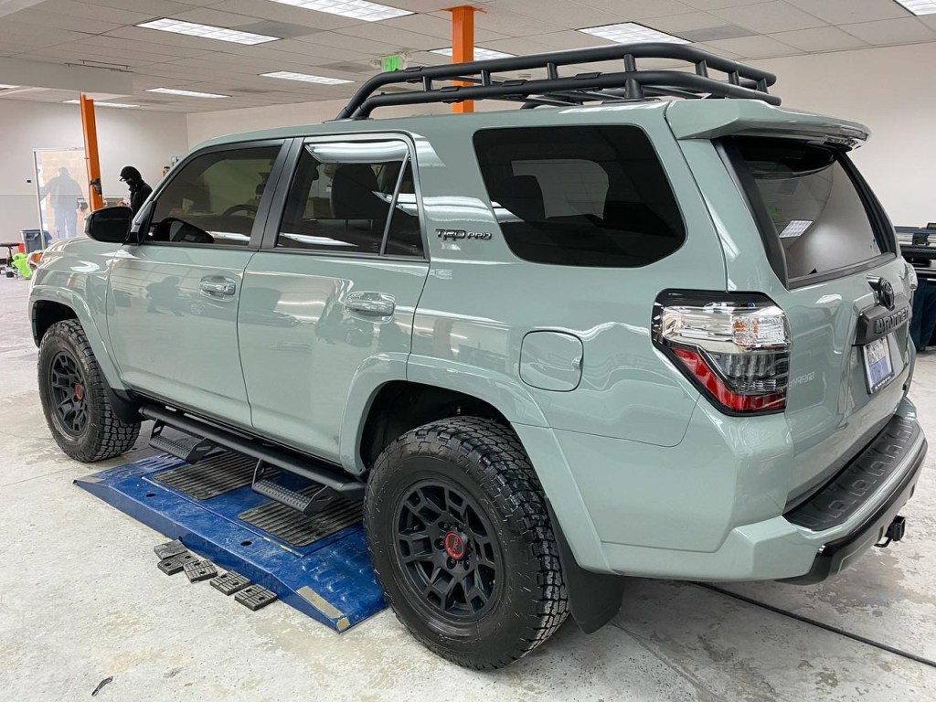 Toyota 4Runner tinted windows back side view