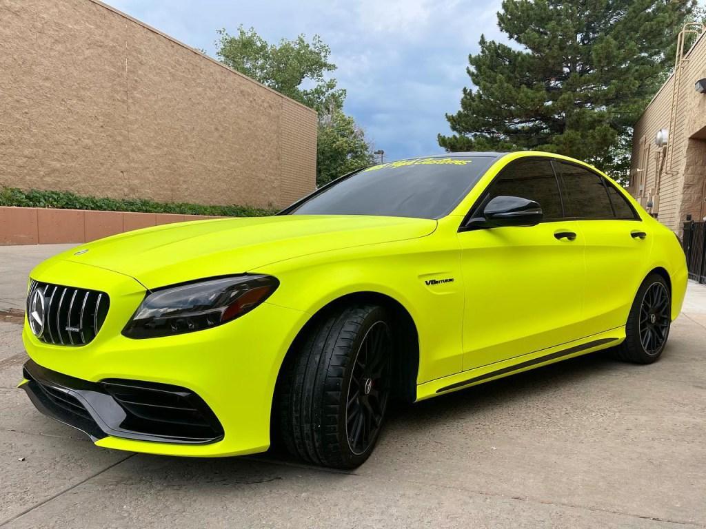 Mercedes C63S AMG tinted windows