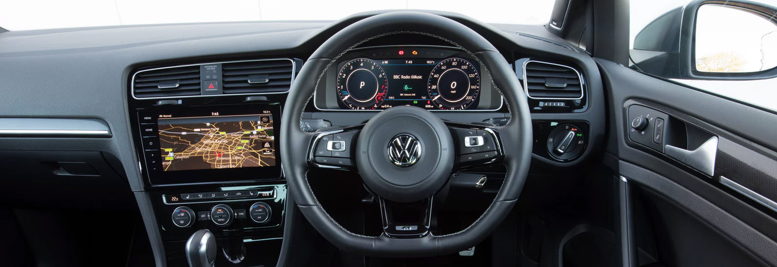 mk8 golf r 2020 vw golf r price specs and release date  [ 1600 x 550 Pixel ]