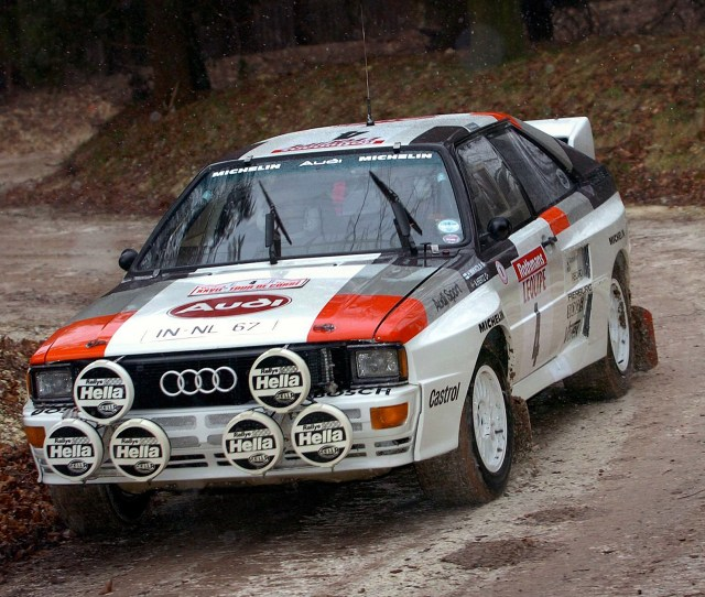 Finn Hannu Mikkolain In His 1983 Audi Quattro Rally Car