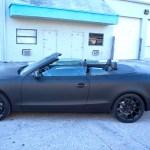 Audi A5 Custom Matte Black Car Wrap Miami Florida