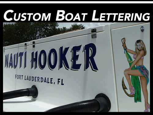 Boat Wraps Amp Yacht Lettering Fort Lauderdale Davie