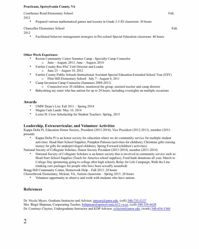 lesson plan in resume