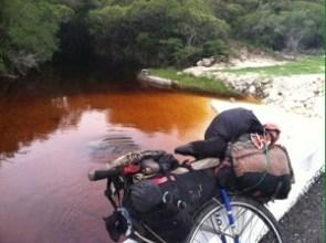 Rust-colored river in the Yucutan Peninsula