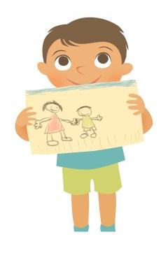 boy w drawing