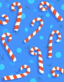 candycanes on blue