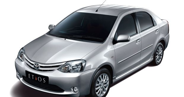 Toyota Etios Exteriors Top View