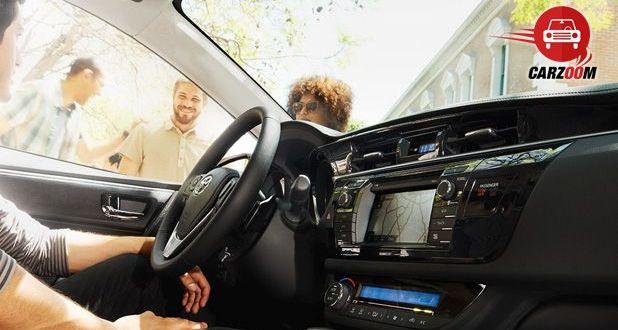 Auto Expo 2014 New Toyota Corolla Interiors Dashboard