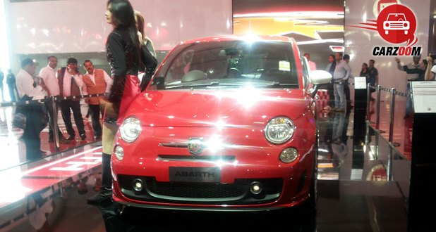 Auto Expo 2014 Fiat Punto Abarth Exteriors Front View