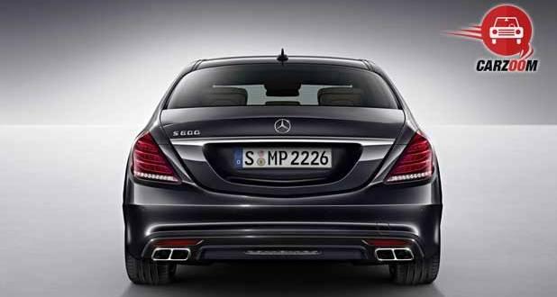 Mercedes Benz S 600 Guard Exteriors Back View