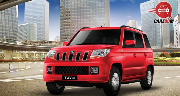Mahindra TUV300 Front and Side View