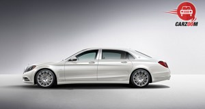 Mercedes Maybach S-Class Side View White Color