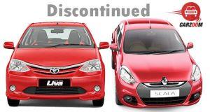 Toyota Etios Liva Sportivo and Renault Scala CVT Discontinued