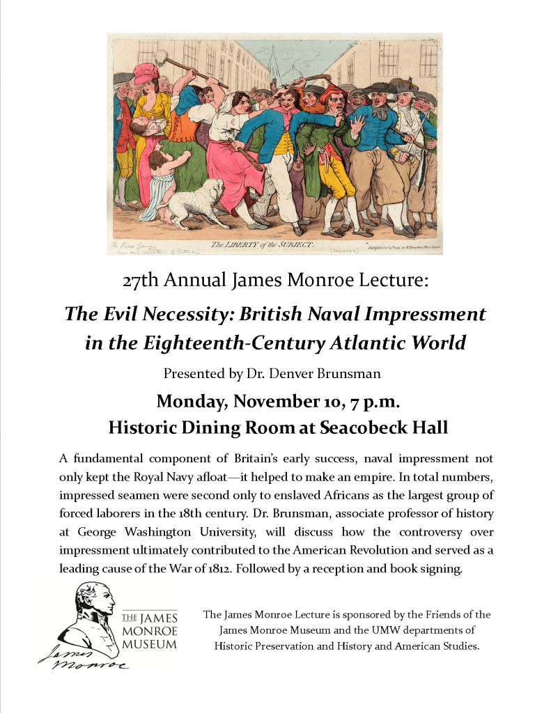 27th Annual James Monroe Lecture | History and American Studies
