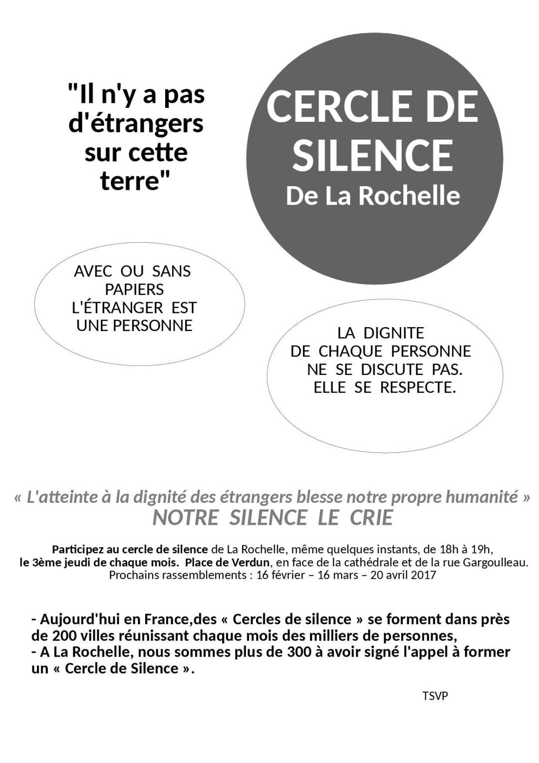 Je donne ma voix au Cercle du silence