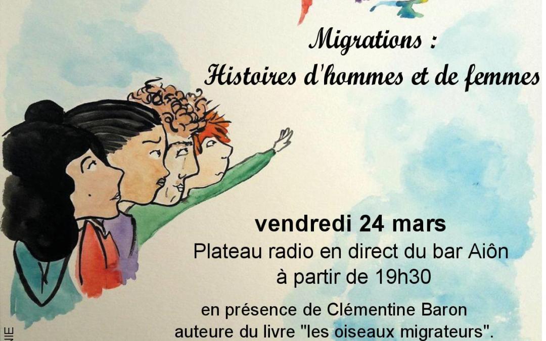 SOIRÉE RENCONTRE – MIGRATIONS : HISTOIRE DE FEMMES ET D'HOMMES