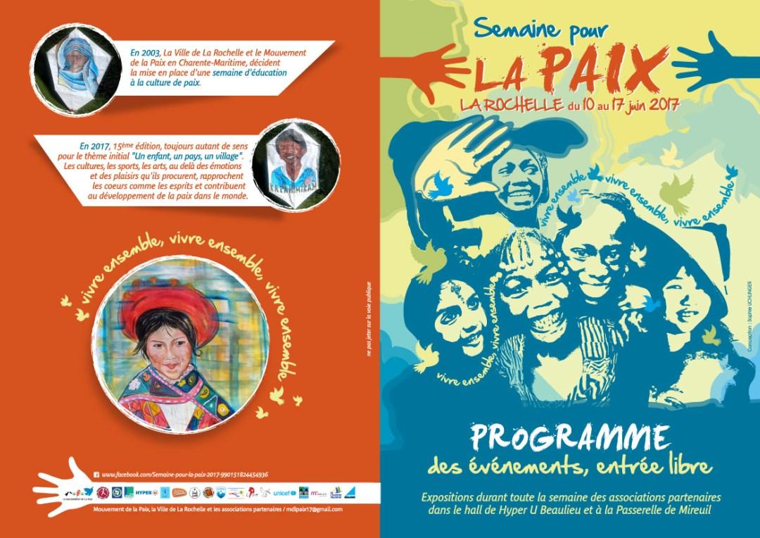 15 ème édition de la semaine pour la paix à La Rochelle