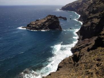 Roque de Las Tabaidas, Costa de Garafia