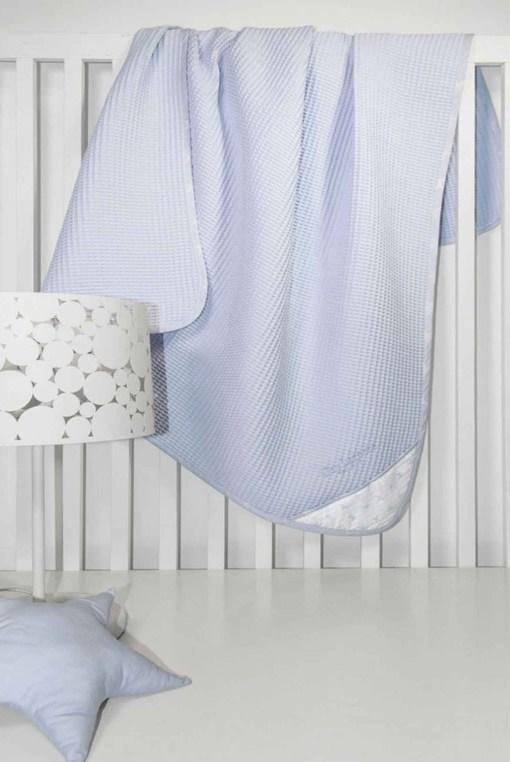 κουβερτα-πικε-κουνιας-guy-laroche-bebe-heaven-light-blue-110×150