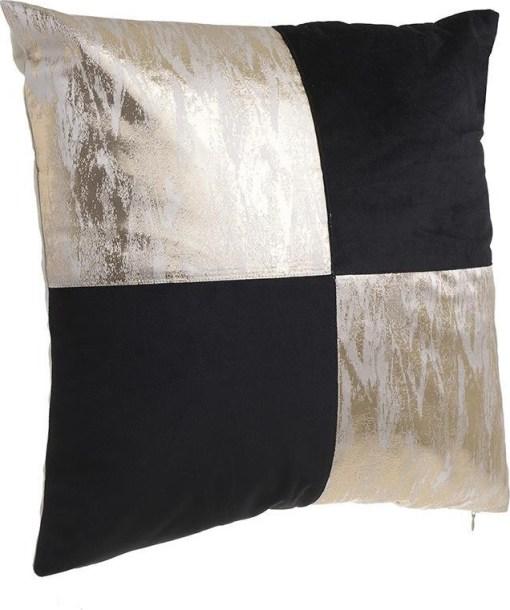 διακοσμητικο-μαξιλαρι-40×40-μαυρο-χρυσο-υφασματινο-inart-865-141
