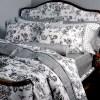 Κουβερλί Σετ Υπέρδιπλο Sateen DOWN TOWN Trousseau Black S611