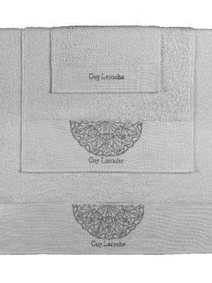 Πετσέτες Σετ 3 Τεμαχίων Guy Laroche Ricordo Silver
