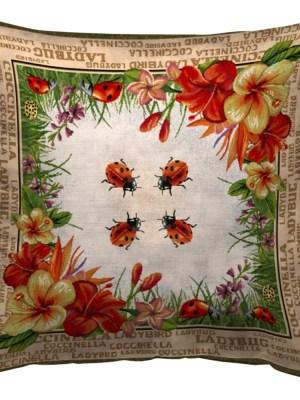 Μαξιλάρι διακοσμητικό 45x45 Στόφα Ισπανίας Coccinella