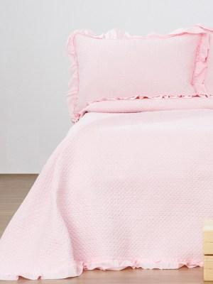 Κουβερλί Υπέρδιπλο Σετ 220x240 Anais Pink
