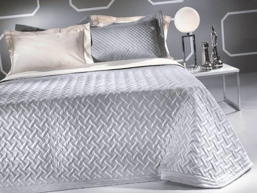 Κουβερλί Υπέρδιπλο Σετ Satin 240x250 GUY LAROCHE Melisse Silver