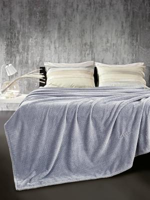 Κουβέρτα Βελούδινη Υπέρδιπλη 220x240 Guy Laroche Rombus Sky