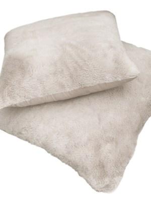 Μαξιλάρι φιγούρας Satin με γούνα Art Fur 45x45 Guy Laroche Crusty ivory