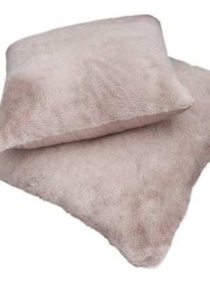Μαξιλάρι φιγούρας Satin με γούνα Art Fur 45x45 Guy Laroche Crusty Old Pink