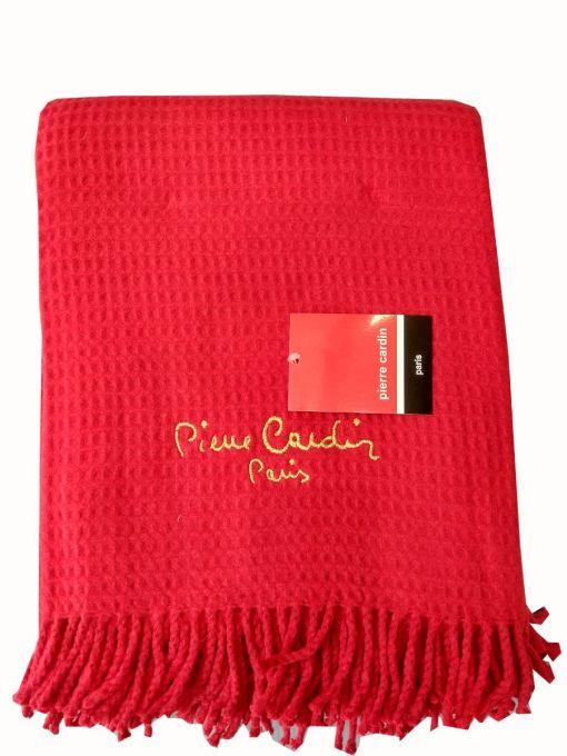 κουβέρτα-ριχτάρι-καναπέ-140×180-pierre-cardin-red