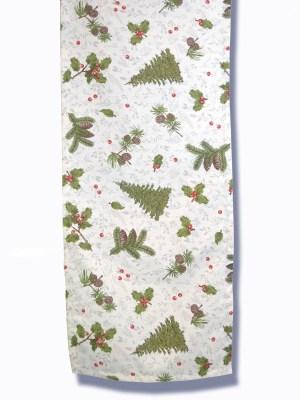 Τραβέρσα Χριστουγεννιάτικη 50x160 Λονέτα Ισπανίας Woodland Beige