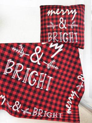Τραπεζοκαρέ Χριστουγεννιάτικο Καρό 130x130 Merry and Bright